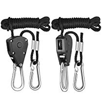 Get iPower 1/8 Inch 8-Feet Long Heavy Duty Adjustable Rope Clip Hanger, 150lb Capacity at Rs 662 | A