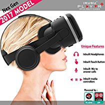 Get Irusu PLAY VR PLUS VR headset with headphones- touch button and m at Rs 1980 | Amazon Offer