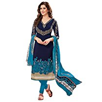 Get Ishin Women's Dress Material (Ddrrjgr-Rmzm9088_Blue_One Siz at Rs 404 | Amazon Offer