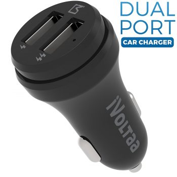 Get iVoltaa 2 Port Smart Car Charger at Rs 349 | Amazon Offer