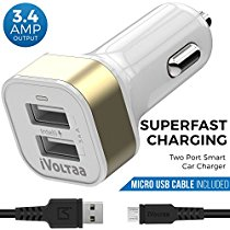 Get iVoltaa 3.4A Dual Port Car Charger with Micro USB Cable – White at Rs 399 | Amazon Offer