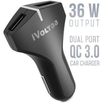 Get iVoltaa QC 3.0 36W – 6.0A Dual Port USB Car Charger at Rs 849 | Amazon Offer