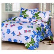 Get IWS Luxury Printed 120 TC Cotton Double Bedsheet with 2 Pillow Covers - Blue at Rs 292 | Amazon