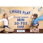 Get Jabong Childs Play Offers - Minimum 30%-70% OFF | Jabong Offer