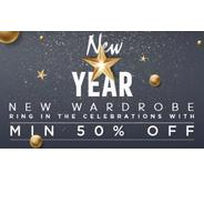 Get Jabong New Year Sale - Minimum 50% OFF | Jabong Offer