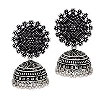 Get Jaipur Mart Jhumki Earrings for Women (Silver)(GSE247SLV) at Rs 282 | Amazon Offer