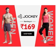 Get Jockey Starting At Rs.169 at Rs 169 | shoppersstop Offer