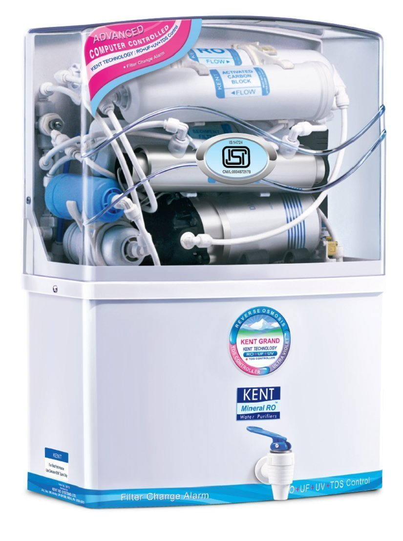 Get Kent Grand 8-Litre Wall Mountable RO+UV+UF+TDS Water Purifier (White) at Rs 13748   Amazon Offer