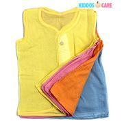Get Kiddoscare Baby Cotton Sleeveless Button Jabla, Multicolor ,Pack of 12,Medium at Rs 695 | etashe