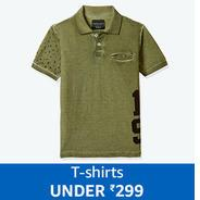 Get Kids T-Shirts Under Rs.299 | Amazon Offer