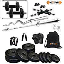 Get Kore 20Kg PVC Combo 2-SL Home Gym at Rs 1898 | Amazon Offer