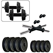 Get Kore K-PVC 20kg Combo 16 Leather Home Gym and Fitness Kit at Rs 1159 | Amazon Offer