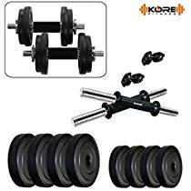 Get Kore K-PVC-DM-22KG-COMBO16 Dumbbell Set Combo at Rs 1068 | Amazon Offer