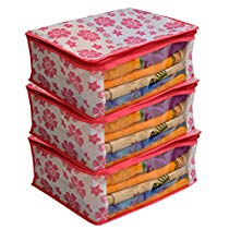Get Kuber Industries 3 Piece Non Woven Saree Cover Set at Rs 165 | Amazon Offer