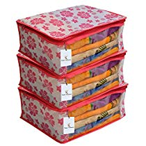 Get Kuber Industries 3 Piece Non Woven Saree Cover Set at Rs 189 | Amazon Offer