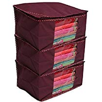Get Kuber Industries 3 Piece Non Woven Saree Cover Set at Rs 199 | Amazon Offer