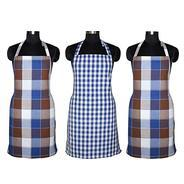 Get Kuber Industries™ Cotton Waterproof Kitchen Apron With Front Pocket Set of 3 Pcs Assorted Colo