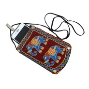 Get Kuber Industries™ Designer Embroided Mobile-Phone Pouch Cover With Purse Pocket And Sari Hook