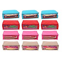 Get Kuber Industries Non Woven Saree Cover 12 Pcs combo at Rs 629 | Amazon Offer