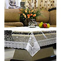 Get Kuber Industries PVC Table Cover – 3D Transparent, Silver Lace, 4 Seater at Rs 169 | Amazon Of