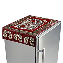Get Kuber Industries Red Cotton Fridge Top Cover (Peacock Desig at Rs 254 | Amazon Offer