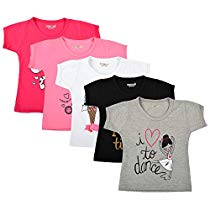 Get Kuchipoo Baby Girl T-Shirts – Pack of 5 at Rs 539 | Amazon Offer