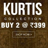 Get Kurti Collection Buy 2 at Rs.399 | Yepme Offer