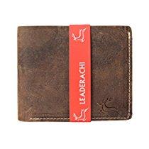 Get Leaderachi Hunter Leather Men'S BiFold Wallet Zermatt B at Rs 359 | Amazon Offer
