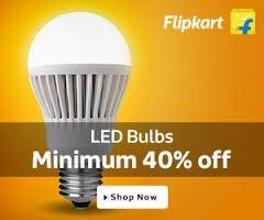 Get LED Bulbs & Tube Lights Min 30% off + 10% Cashback   at Rs 99 | Flipkart Offer