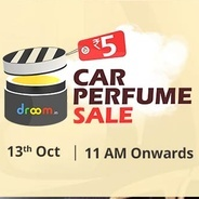 Get Live at 11 Am - Droom Car Perfume Sale Rs.5 at Rs 5 | droom Offer