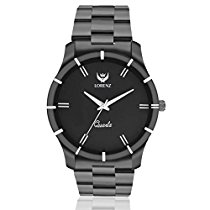 Get Lorenz MK-1062A Luxury Matte Finish Black Watch For Men at Rs 359 | Amazon Offer