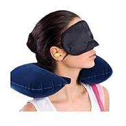 Get LOYAL EMPLE Multicolor Travel Pillow with Eye Mask and 2 Ear Plugs at Rs 240 | Amazon Offer