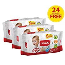 Get LuvLap Baby wipes 72+8 pack of 3 at Rs 223 | Amazon Offer