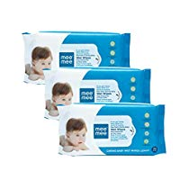 Get Mee Mee Caring Baby Wet Wipes with Lemon Fragrance (72 pcs/pack) (Pack of 3) at Rs 178 | Amazon