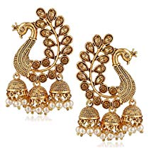 Get MEENAZ Gold Plated Brass Earrings for Women at Rs 269 | Amazon Offer