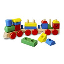Get Melissa & Doug Stacking Train – Classic Wooden Toddler Toy (18 pcs) at Rs 1573 | Amazon Offer