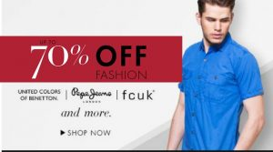 Get Men's Clothing Min 70% off   at Rs 135 | Amazon Offer