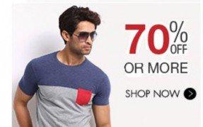 Get  Men's Clothing Minimum 60% off at Rs 159 | Flipkart Offer