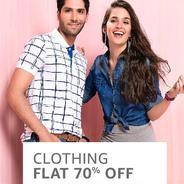 Get Mens & Womens Clothing Flat 70% OFF | Amazon Offer
