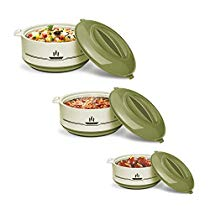Get Milton Buffet Insulated Steel Casseroles, Junior Gift Set, 3 Pieces, Green at Rs 449 | Amazon Of