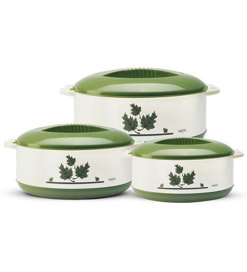 Get Milton Orchid Junior Green Casseroles – Set of 3   Pepperfry Offer