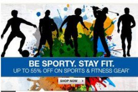 Get Min 50% off on Sports & Fitness Gear   at Rs 89 | Flipkart Offer