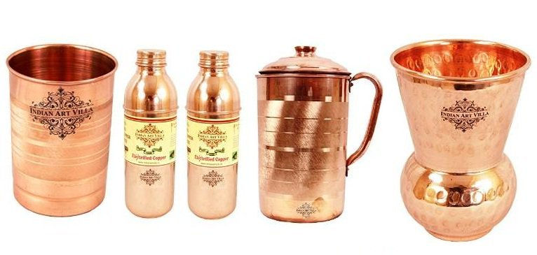 Get Minimum 50% to 85% off on Indian Art Villa Copper, Nickle & Brass Utensils   india at Rs 110 | A
