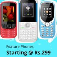Get Mobile Phones Start Rs.299 at Rs 299 | Shopclues Offer