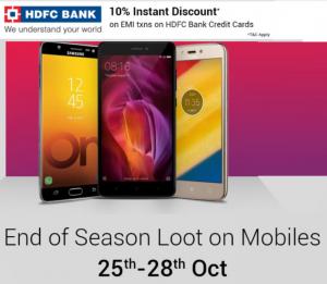 Get  Mobiles Huge Discount + 10% off with HDFC Bank Credit Cards EesyEMI | Flipkart Offer