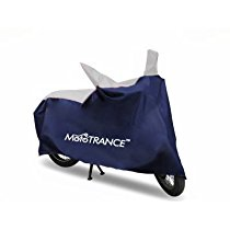 Get Mototrance MT800338 Universal Bike Body Cover Sporty Blue at Rs 249 | Amazon Offer