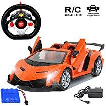 Get MousePotato 1:16 Lamborghini Style Sports Racing Car Orang at Rs 824 | Amazon Offer