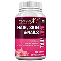 Get MuscleXP Biotin Hair Skin and Nails Complete Multivitamin w at Rs 699 | Amazon Offer