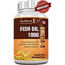 Get MuscleXP Fish Oil 1000 330mg Omega3 90 Softgels at Rs 599   Amazon Offer