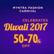 Get Myntra Fashion Carnival Sale - Flat 50% - 70% OFF On Clothings | Myntra Offer